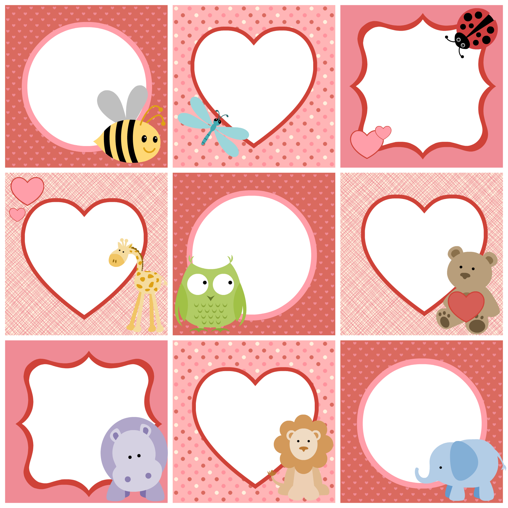4 Images of Cute Printable Tags