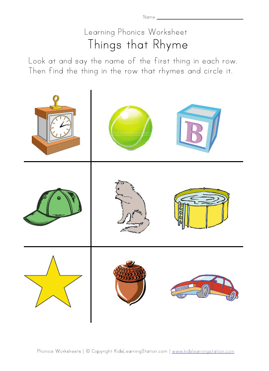 Free Worksheets Kindergarten Rhyming Worksheets Free Free – Rhyming Worksheet Kindergarten