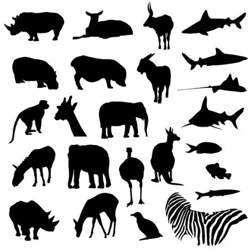 4 Images of Printable Zoo Animals Shape Cut
