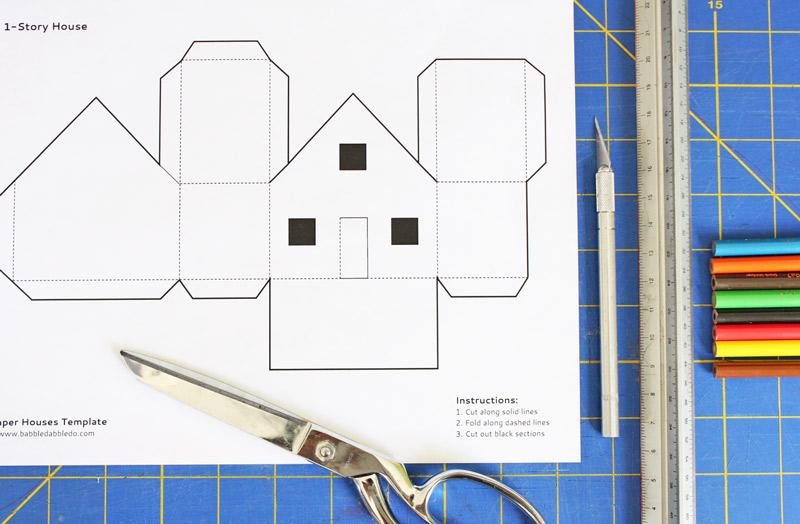 Как сделать домик из бумаги картинки
