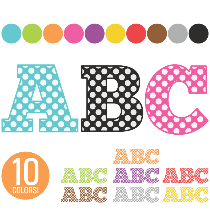 5 Images of Free Printable Alphabet Clip Art
