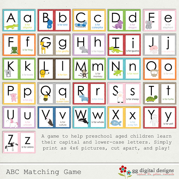 7 Best Images of Printable Alphabet Matching Game