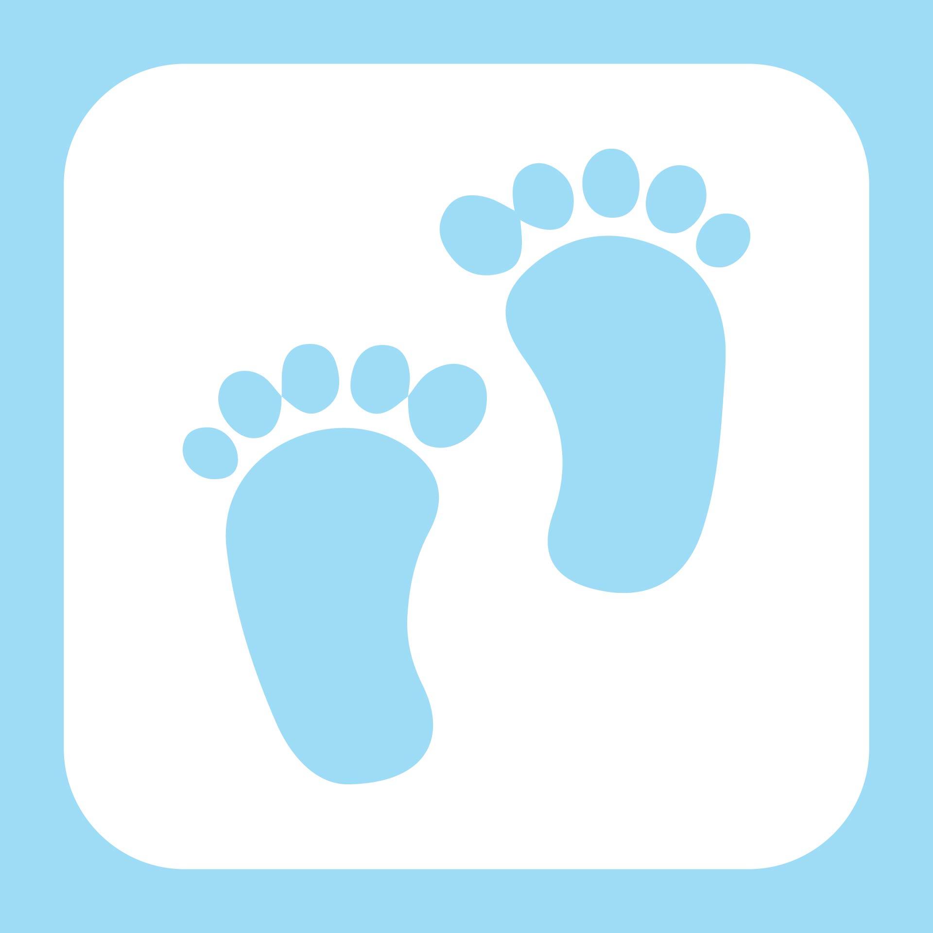 Baby Footprint Stencil Template