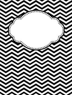 6 Images of Cute Printable Binder Covers Black And White