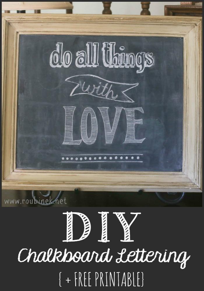 4 Images of DIY Printable Chalkboard
