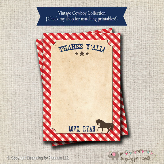 5 Images of Vintage Horse Cowboy Printables