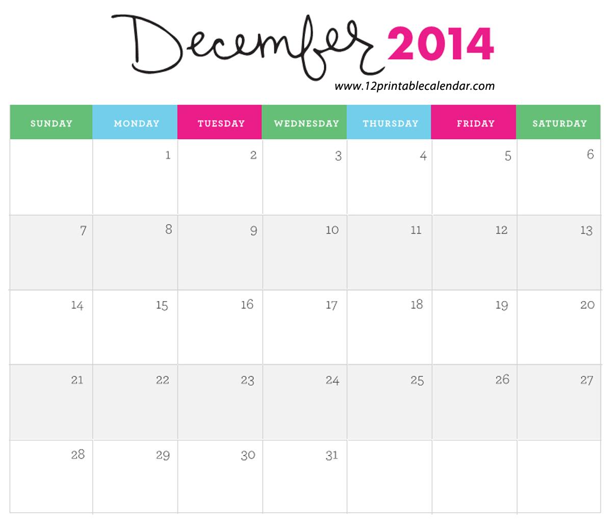 ... 2014 Calendar 4 best images of cute november 2014 calendar printable