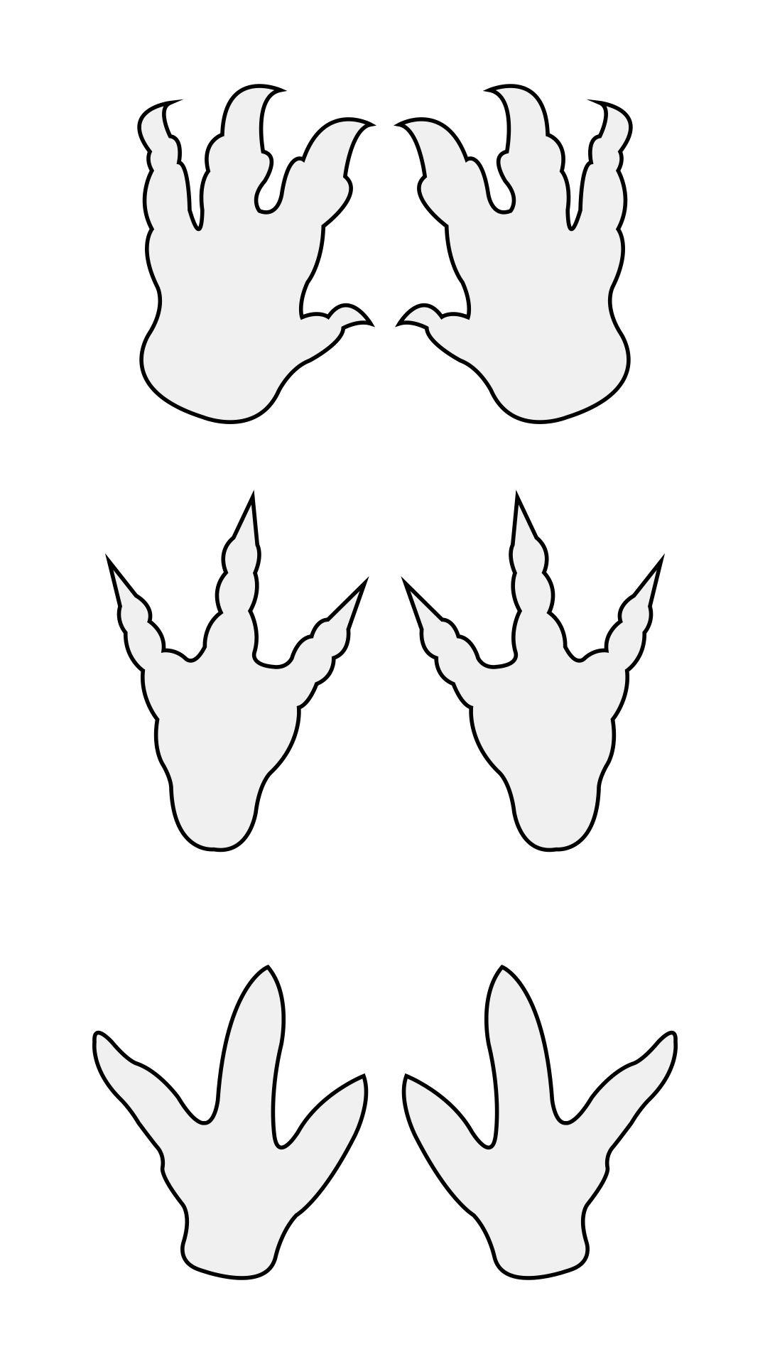 Dinosaur Footprint Print Out