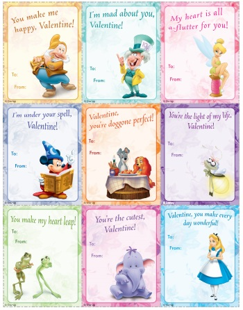 8 Images of Free Disney Printable Valentine's Cards