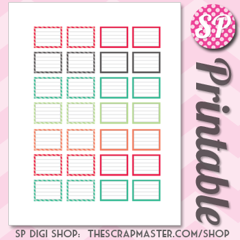Erin Condren Planner Sticker Printables
