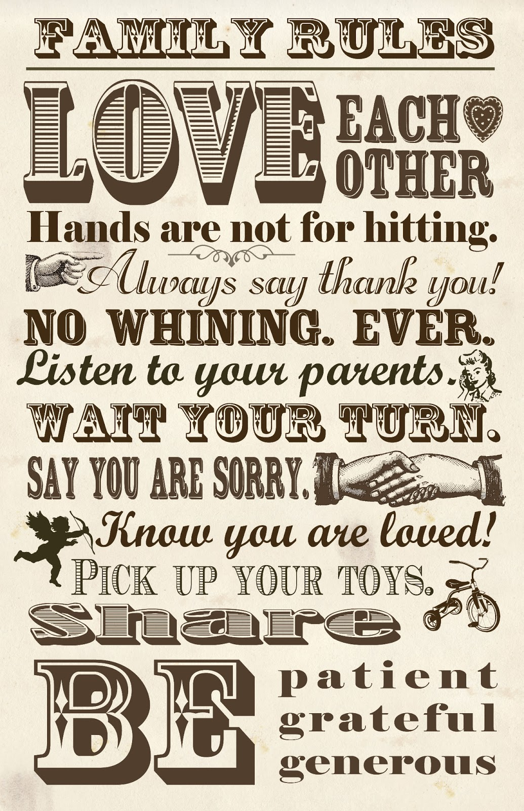 6 Images of Family Rules Printable Chart