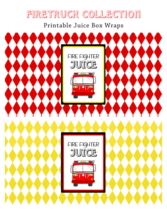 Fire Truck Birthday Printables Free