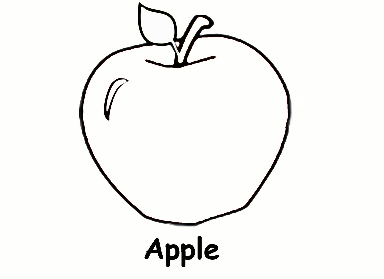 1 Images of Printable Apple Coloring Page