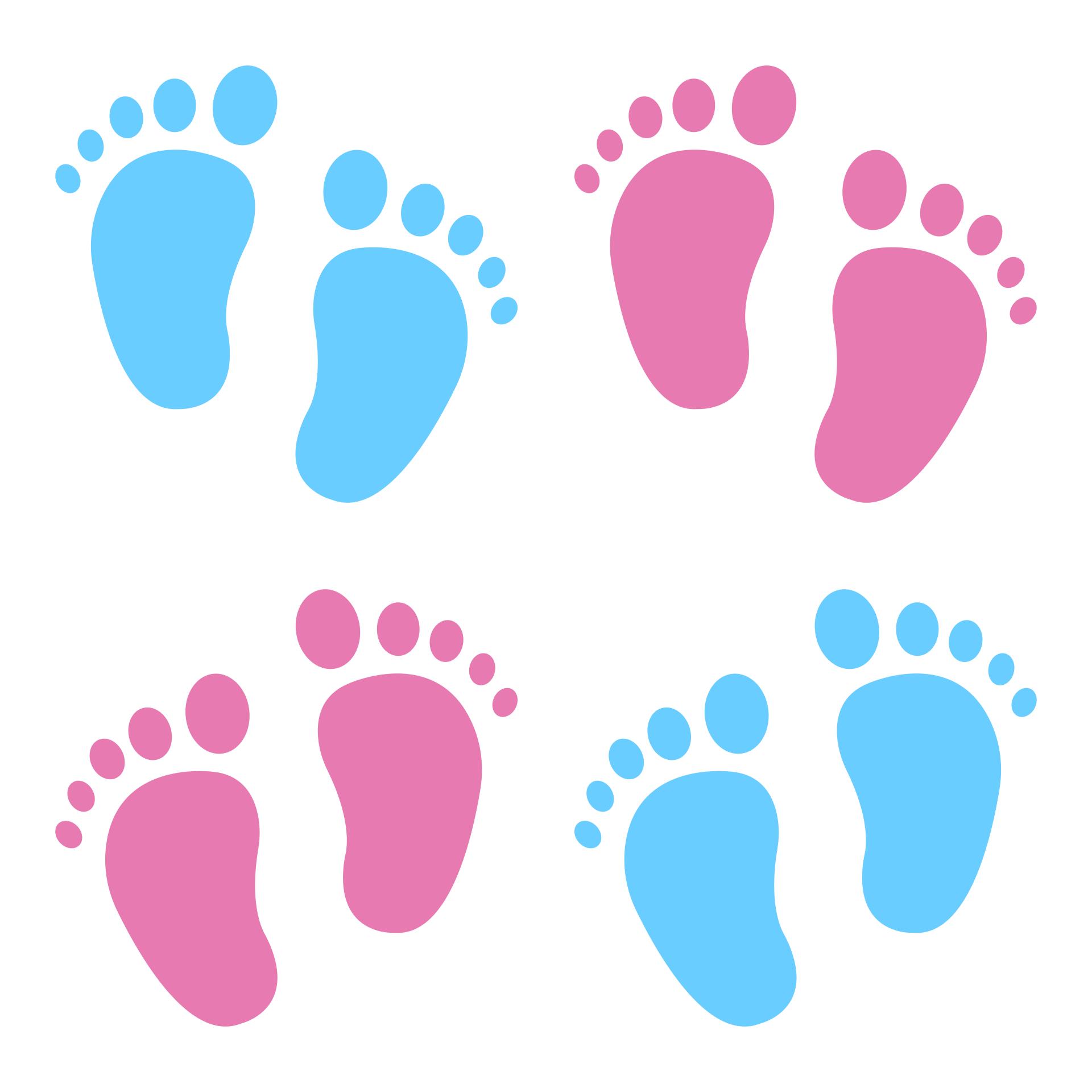 Baby Footprint Pattern Printable