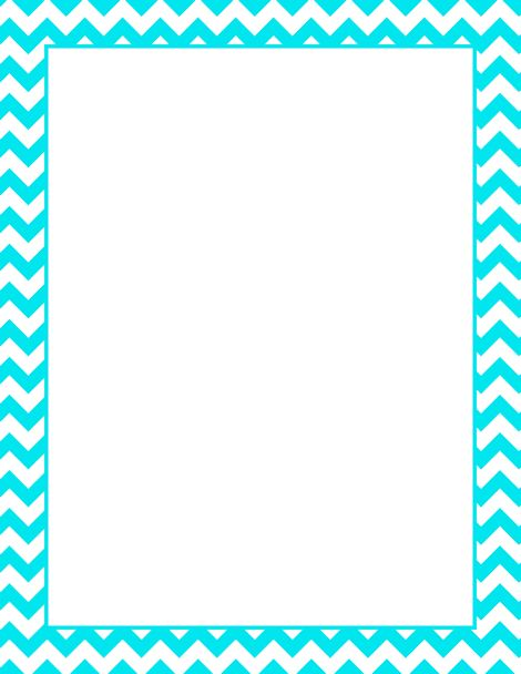 6 Images of Printable Chevron Border