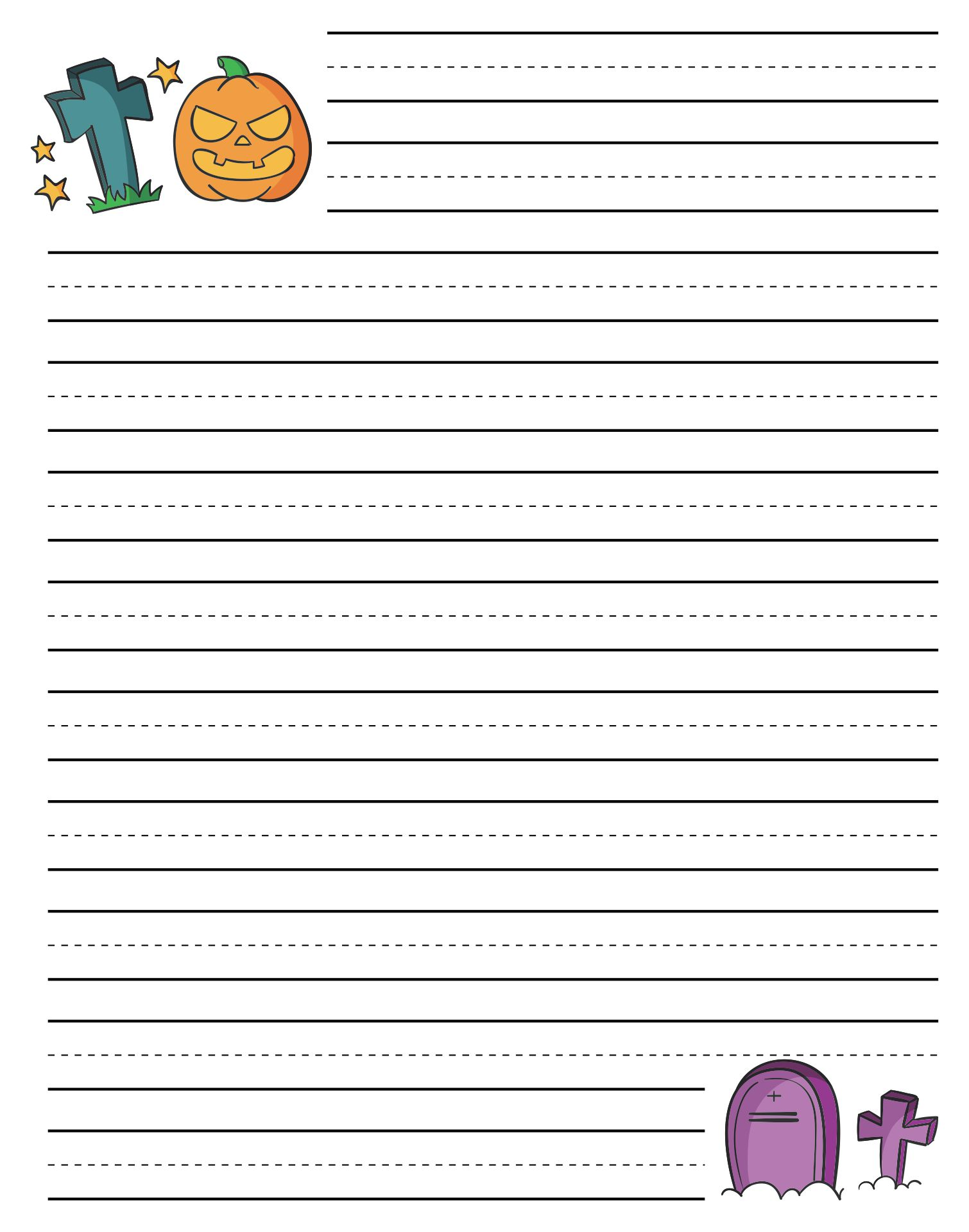 6 Images of Free Printable Halloween Writing Paper