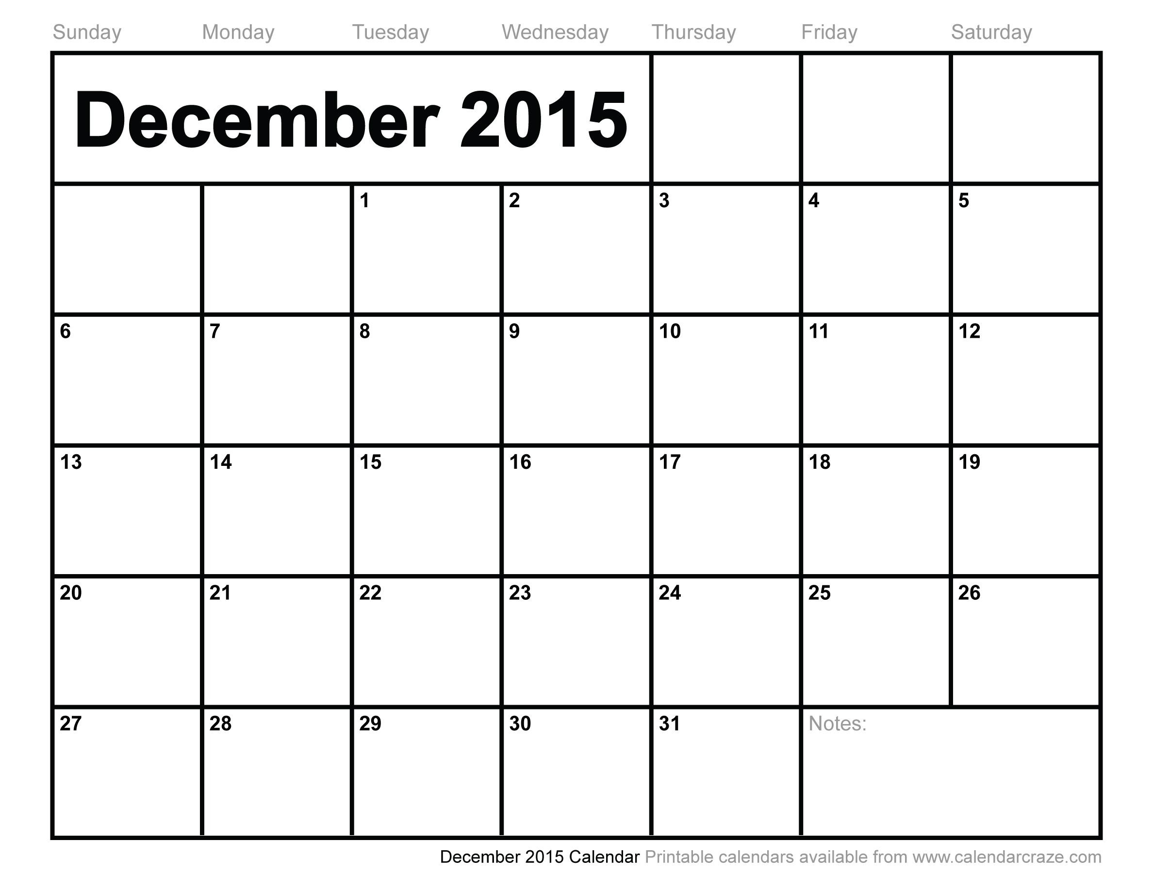 Free Large Printable Calendar