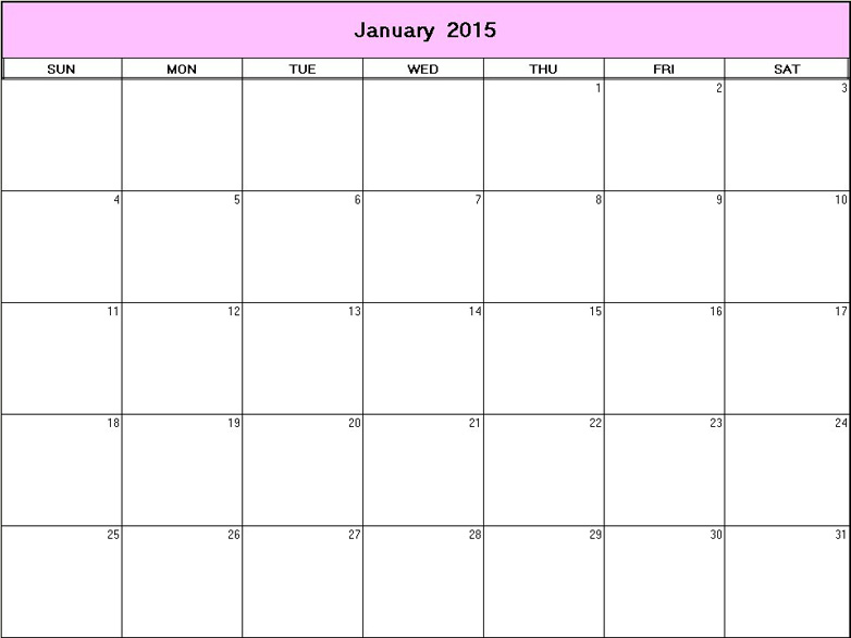 of Free Printable 2015 Monthly Calendars 8 X 11 - Free Printable 2015 ...