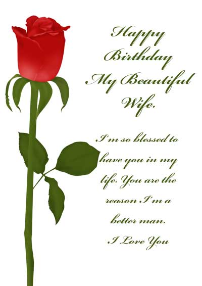 5 Images of Printable Birthday Cards For Wife Romantic