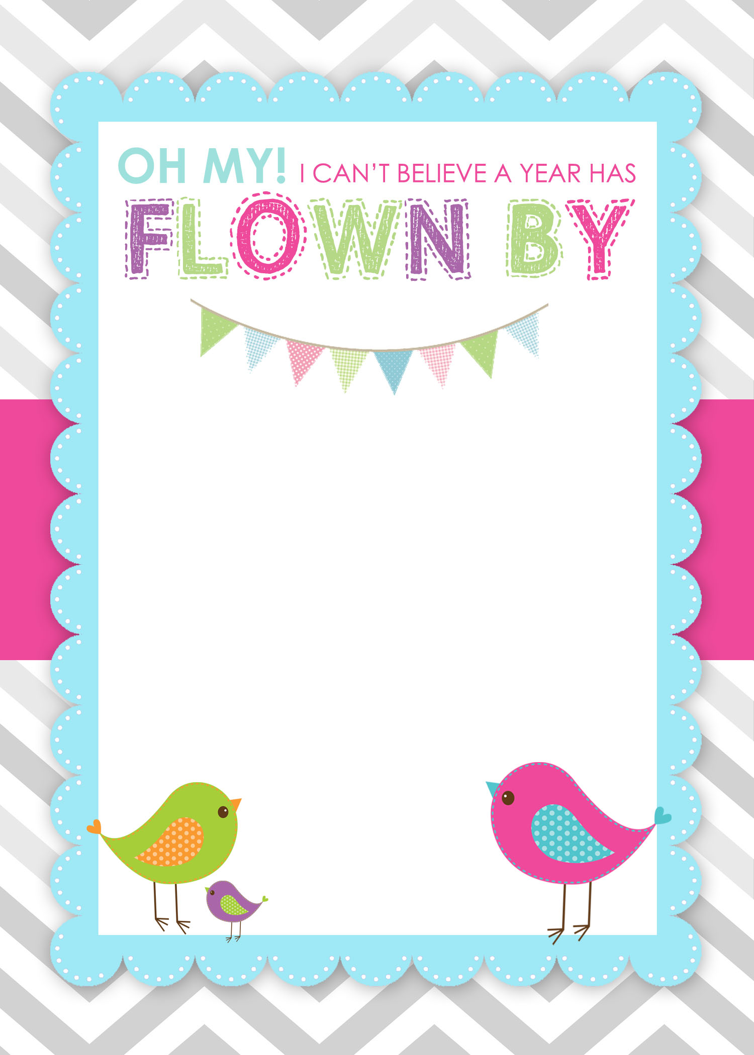 7 Images of Free Printable Birthday Invitation Bird