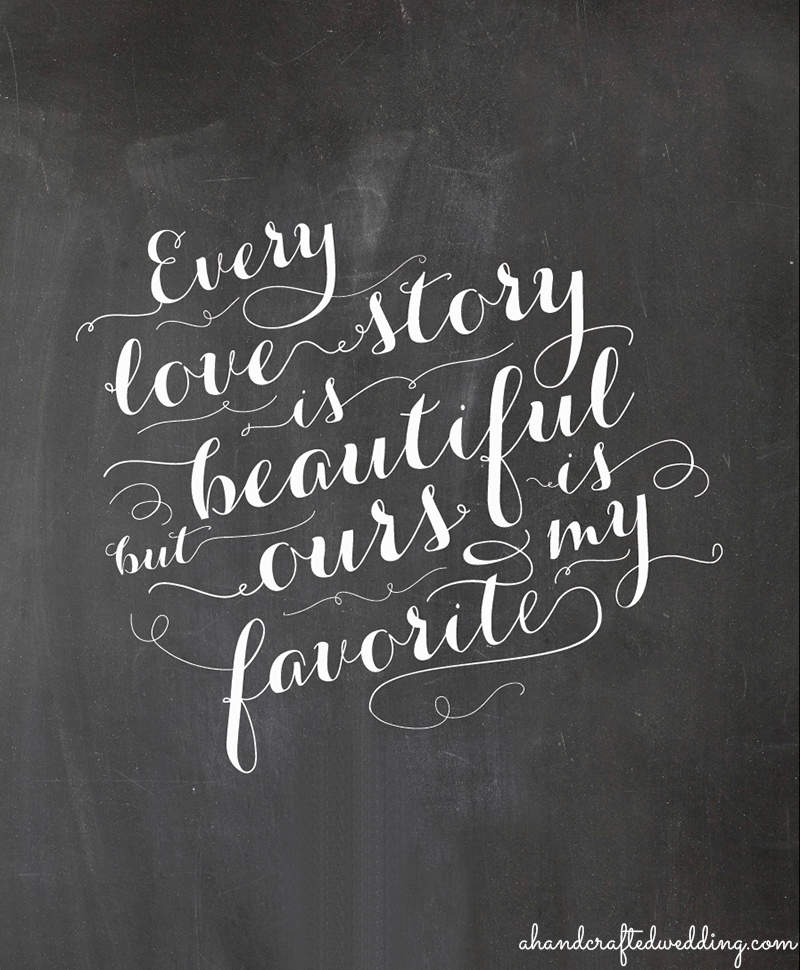 Free Printable Chalkboard Love Quote