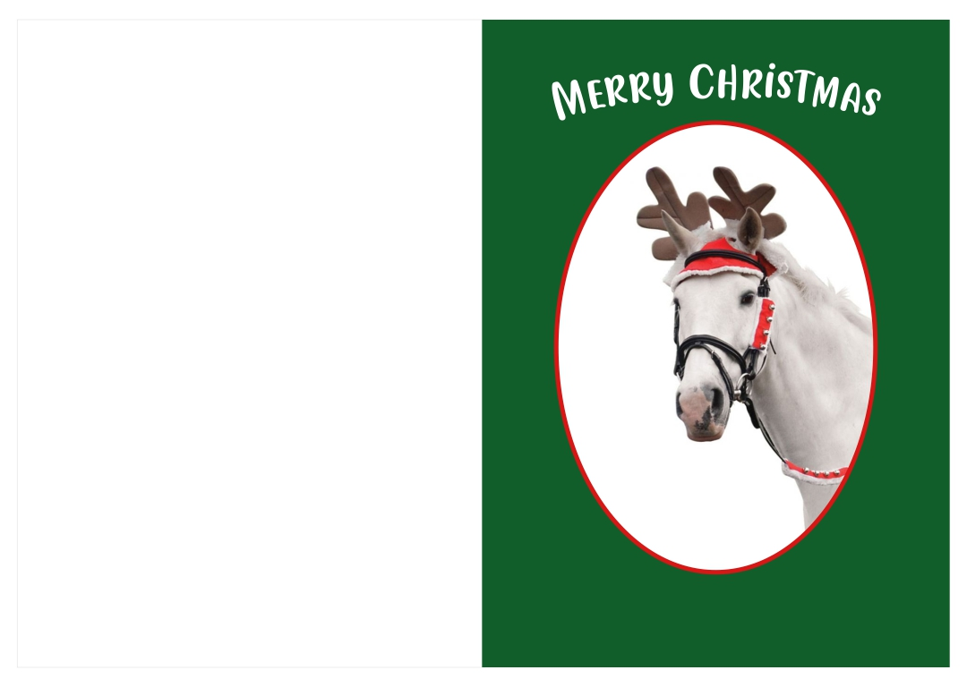 8 Images of Printable Horse Christmas Cards