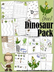5 Images of Dinosaur Preschool Printable Papers