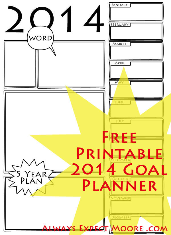 7 Images of Free Goal Planner Printable