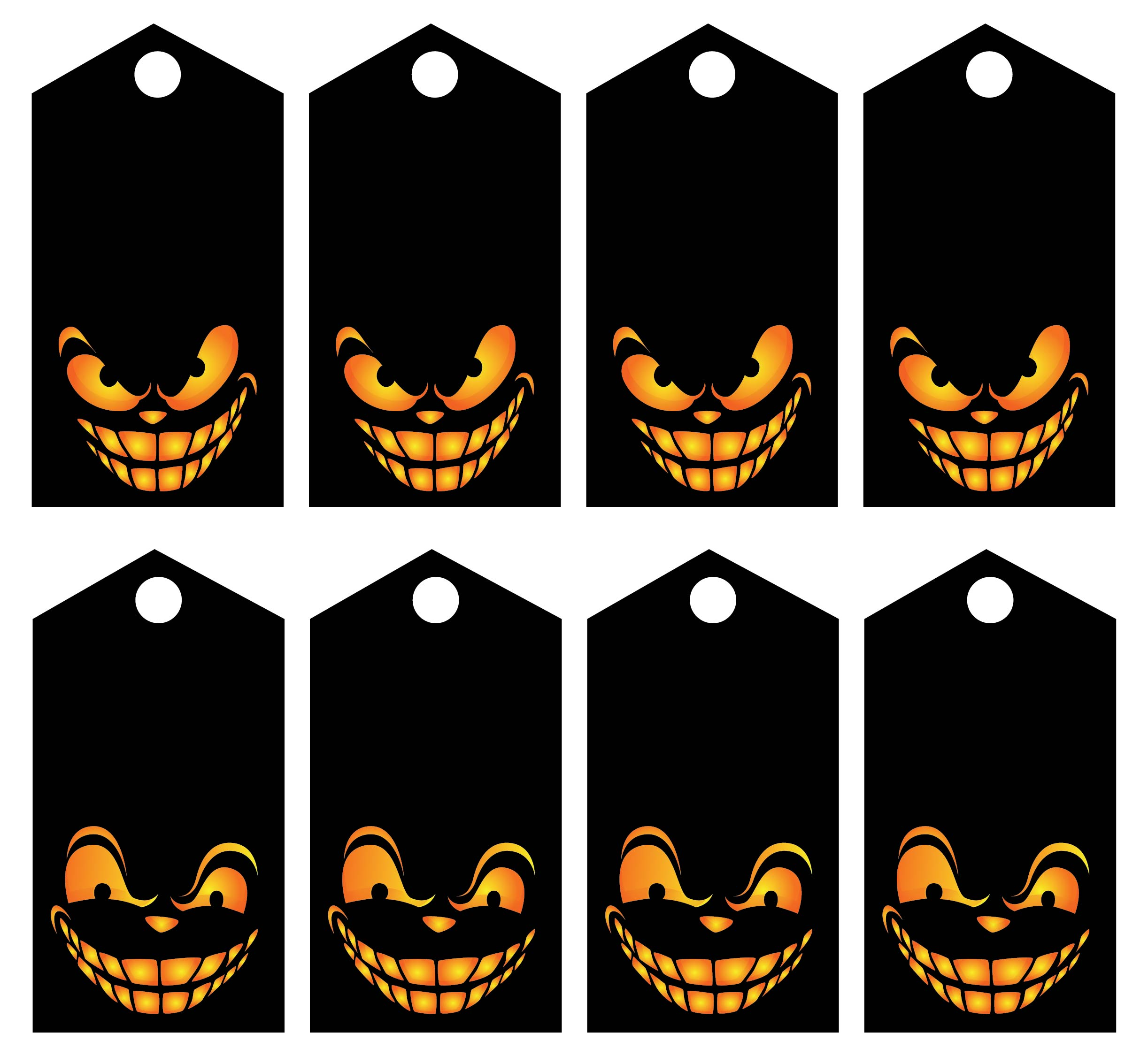 goodie bag tag template - 9 best images of printable halloween tags halloween