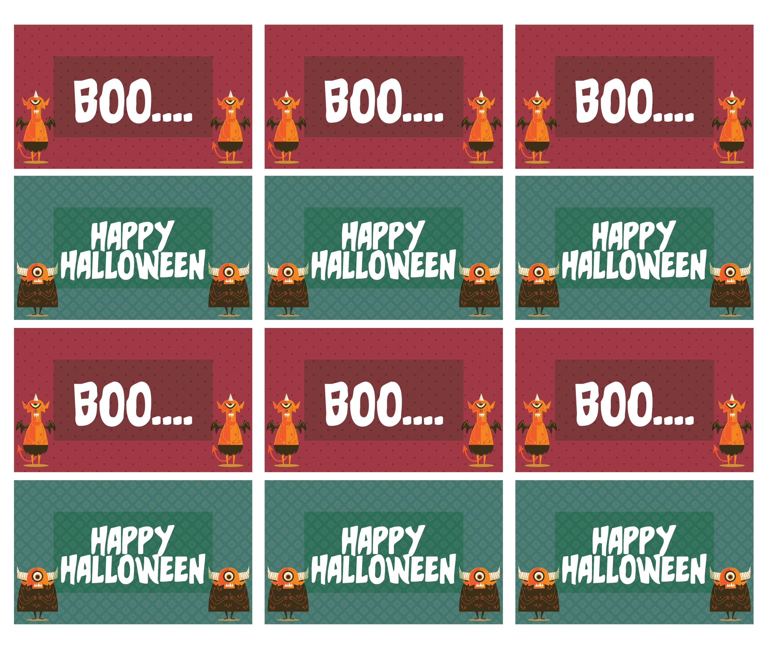 Free Printable Halloween Gift Tags