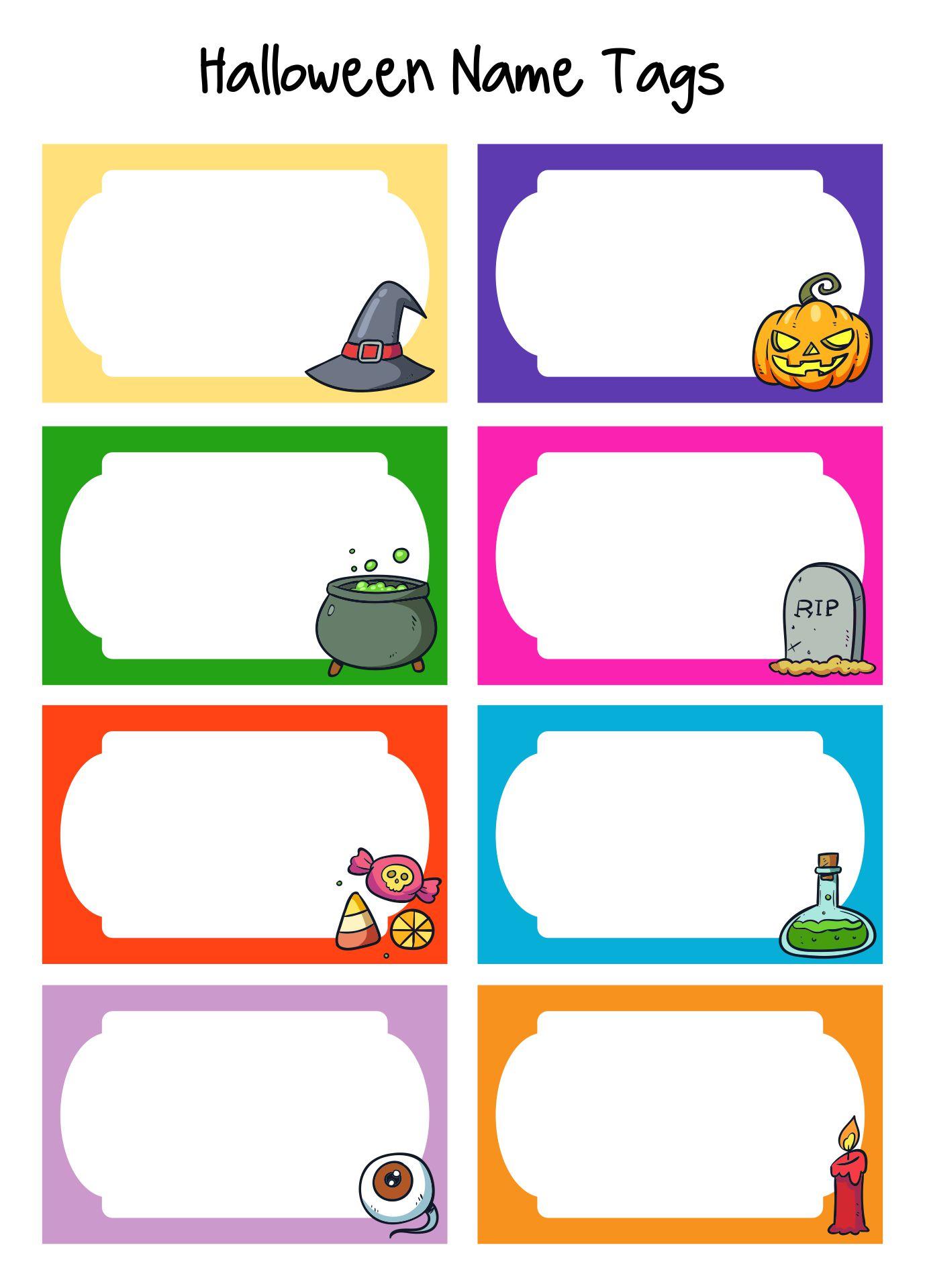 Printable Halloween Name Tags
