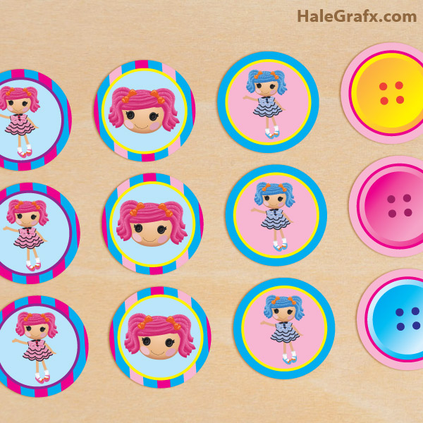 4 Images of Lalaloopsy Printable Cupcake Toppers