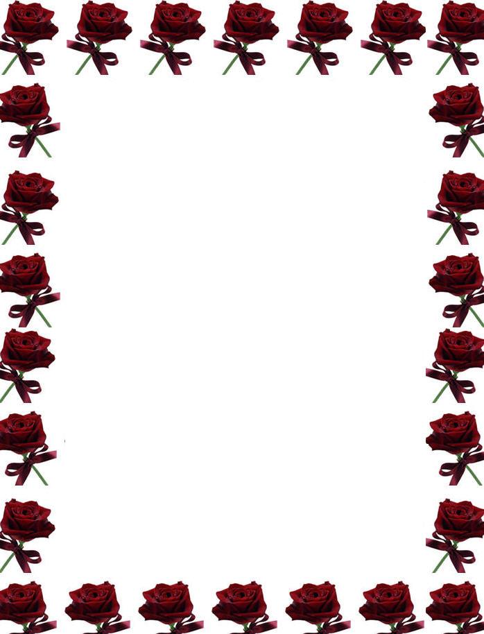 Free Printable Paper Borders Roses