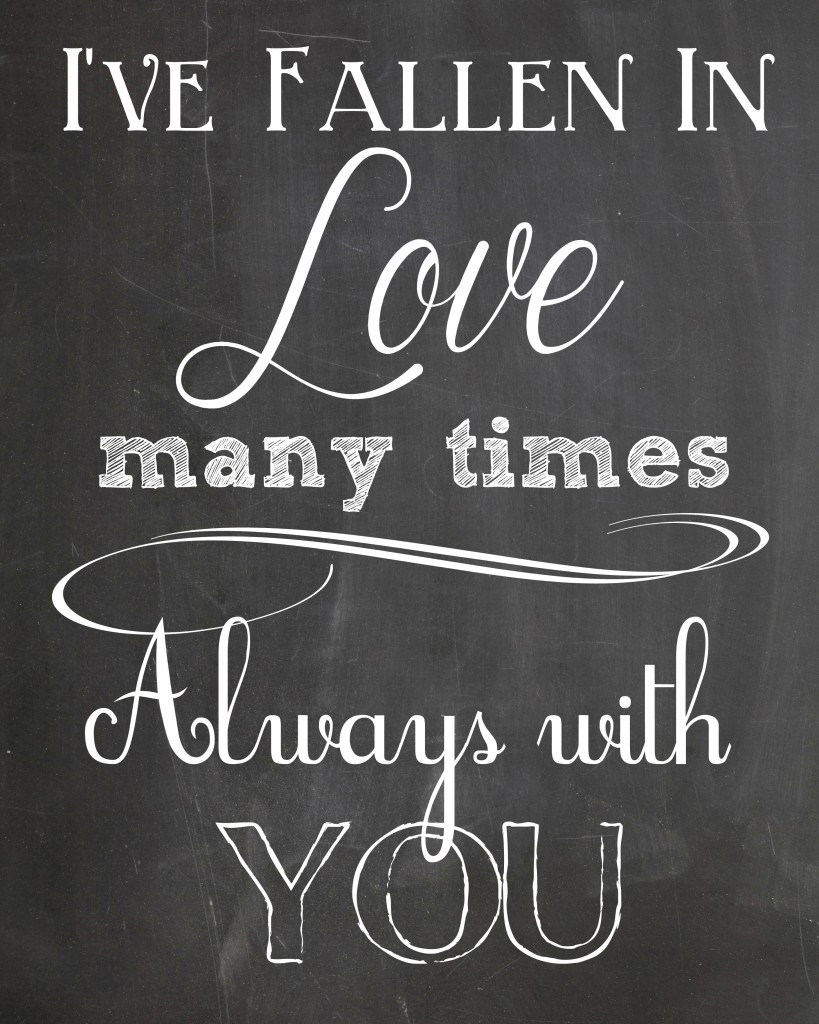 4 Images of Love Chalkboard Printable