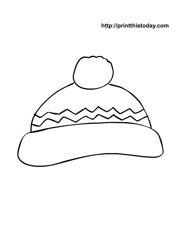 7 Images of Winter Hat Printable