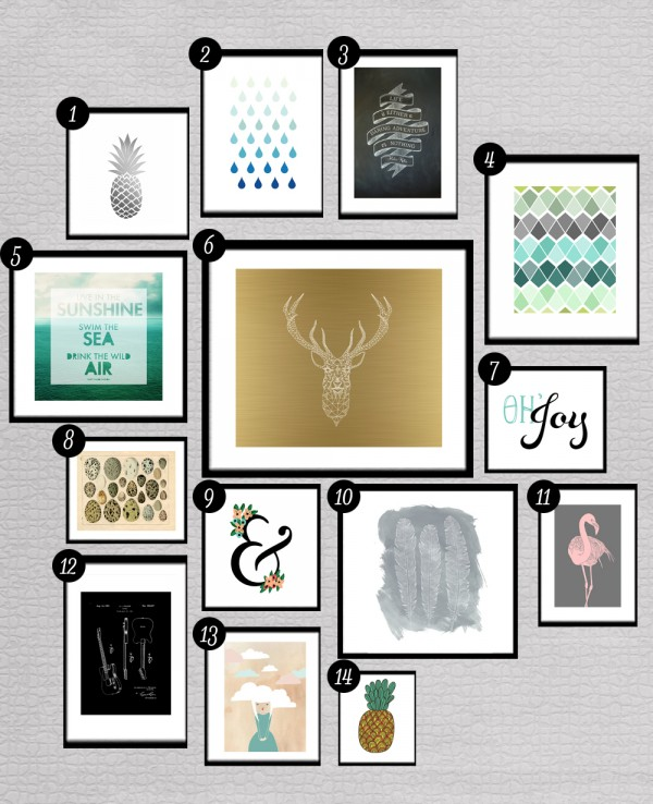 8 Images of Gold Gallery Wall Free Printables
