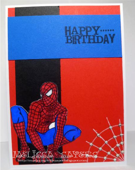 6 Images of Printable Spider-Man Happy Birthday Card