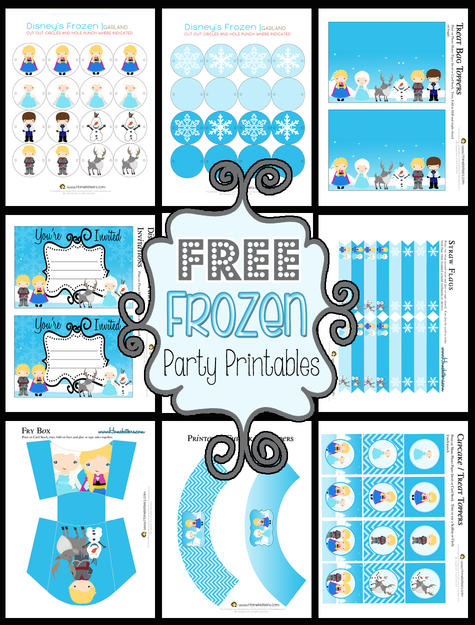 9 Images of Frozen Printables Free