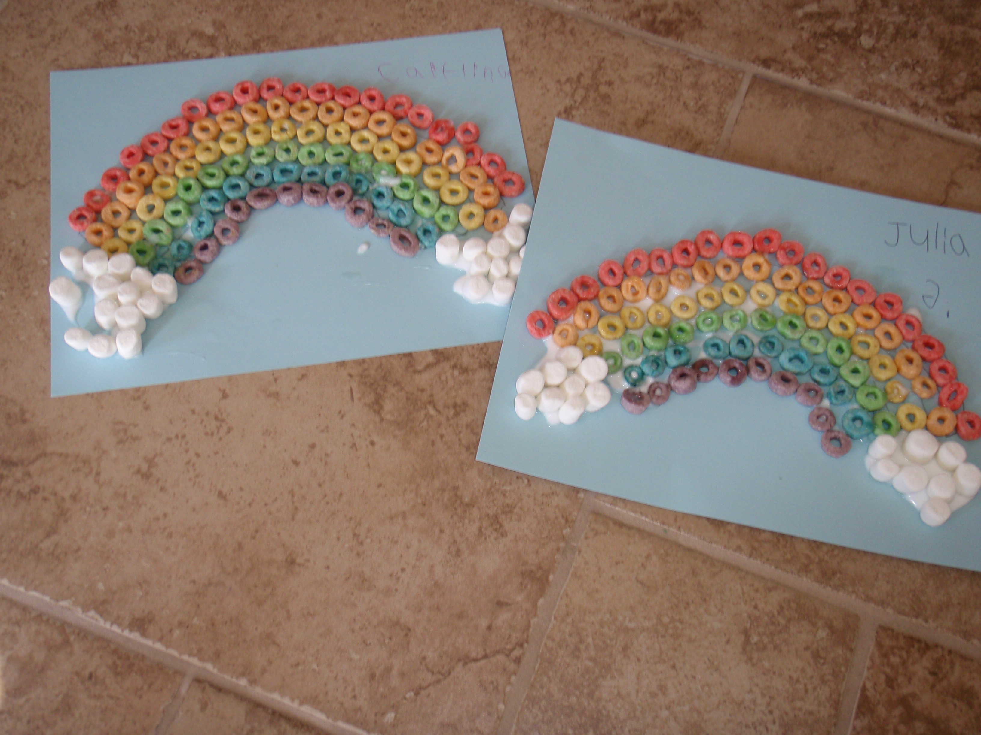 8 Images of Rainbow Fruit Loops Printable Activity