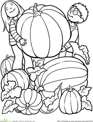 8 best images of free fall printables kindergarten for Large pumpkin coloring page