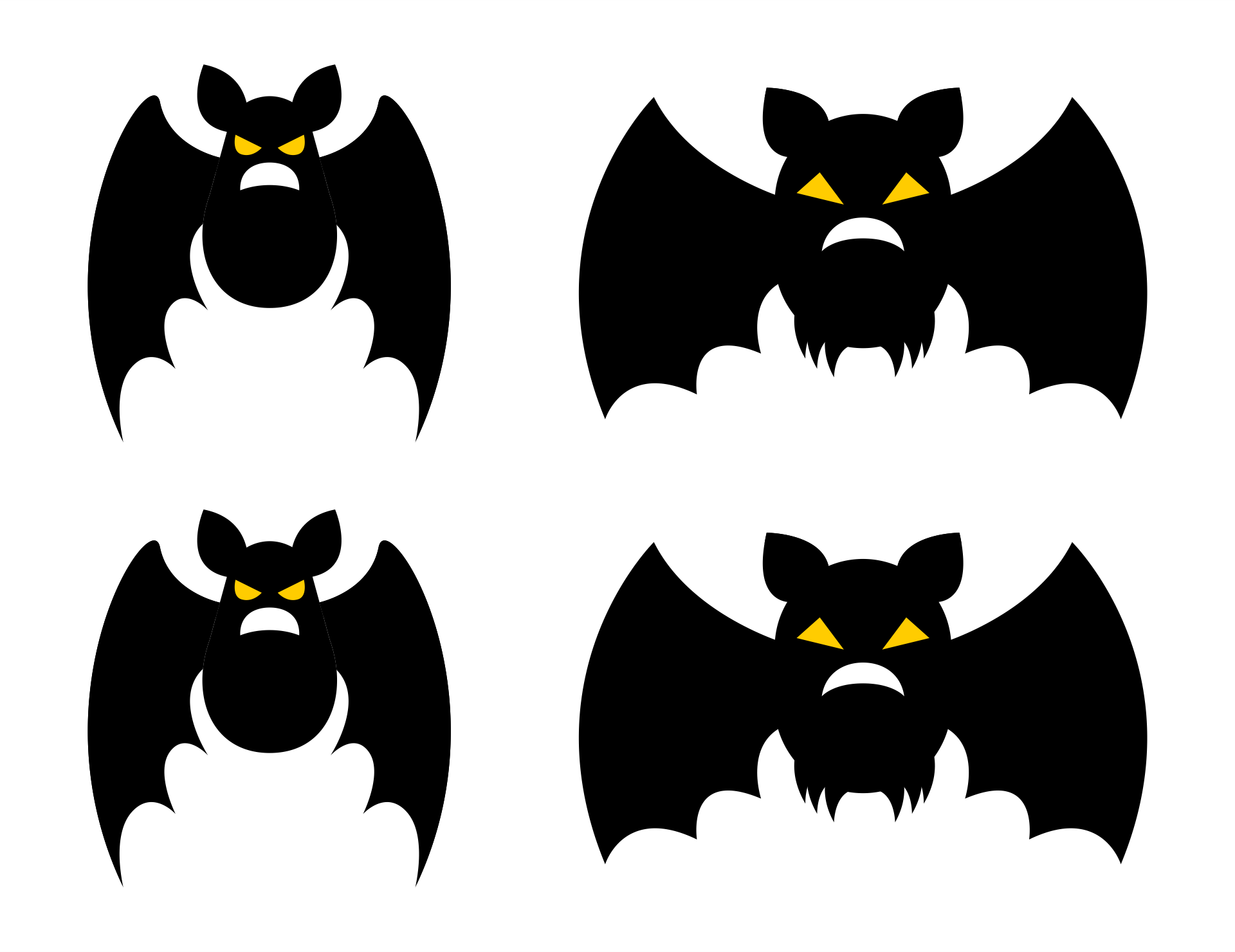 Halloween Bat Craft Template