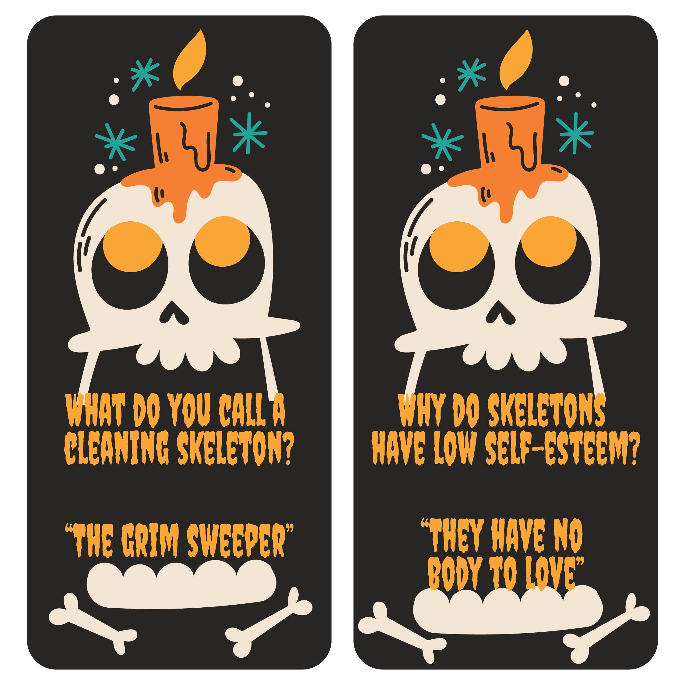 Halloween Jokes Printable Bookmarks
