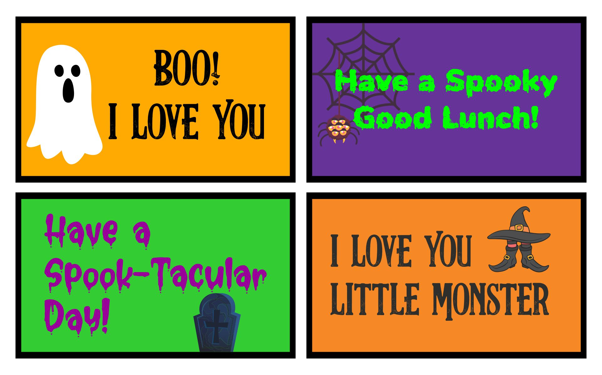 8 Images of Halloween Lunch Box Printables