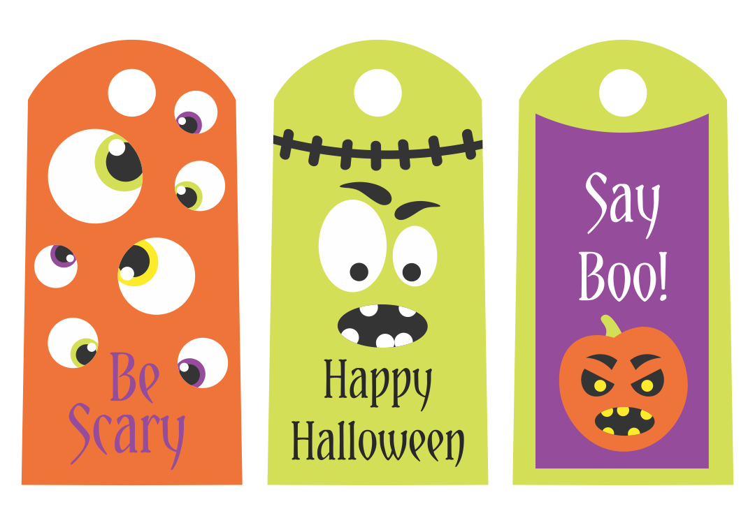 9 Images of Printable Halloween Tags