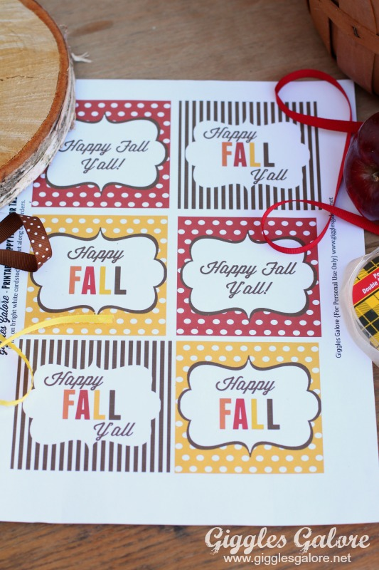 5 Images of Free Printable Happy Fall Tags