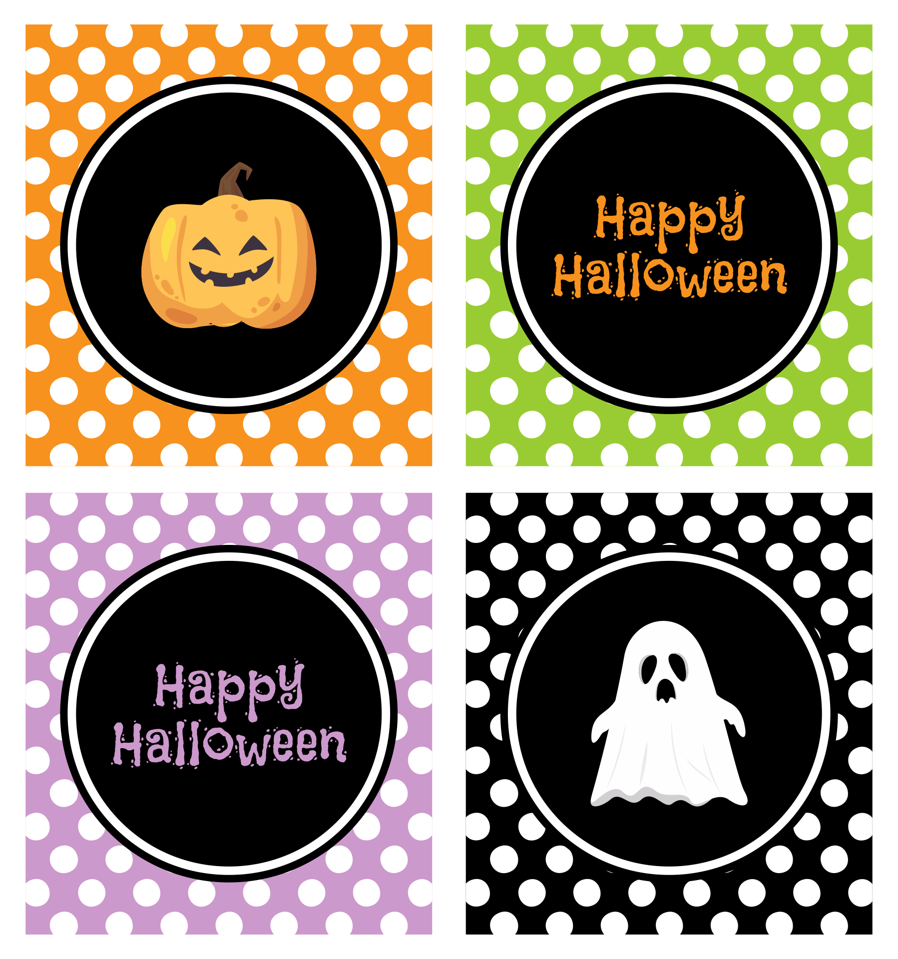 7 Images of Happy Halloween Free Printable Labels