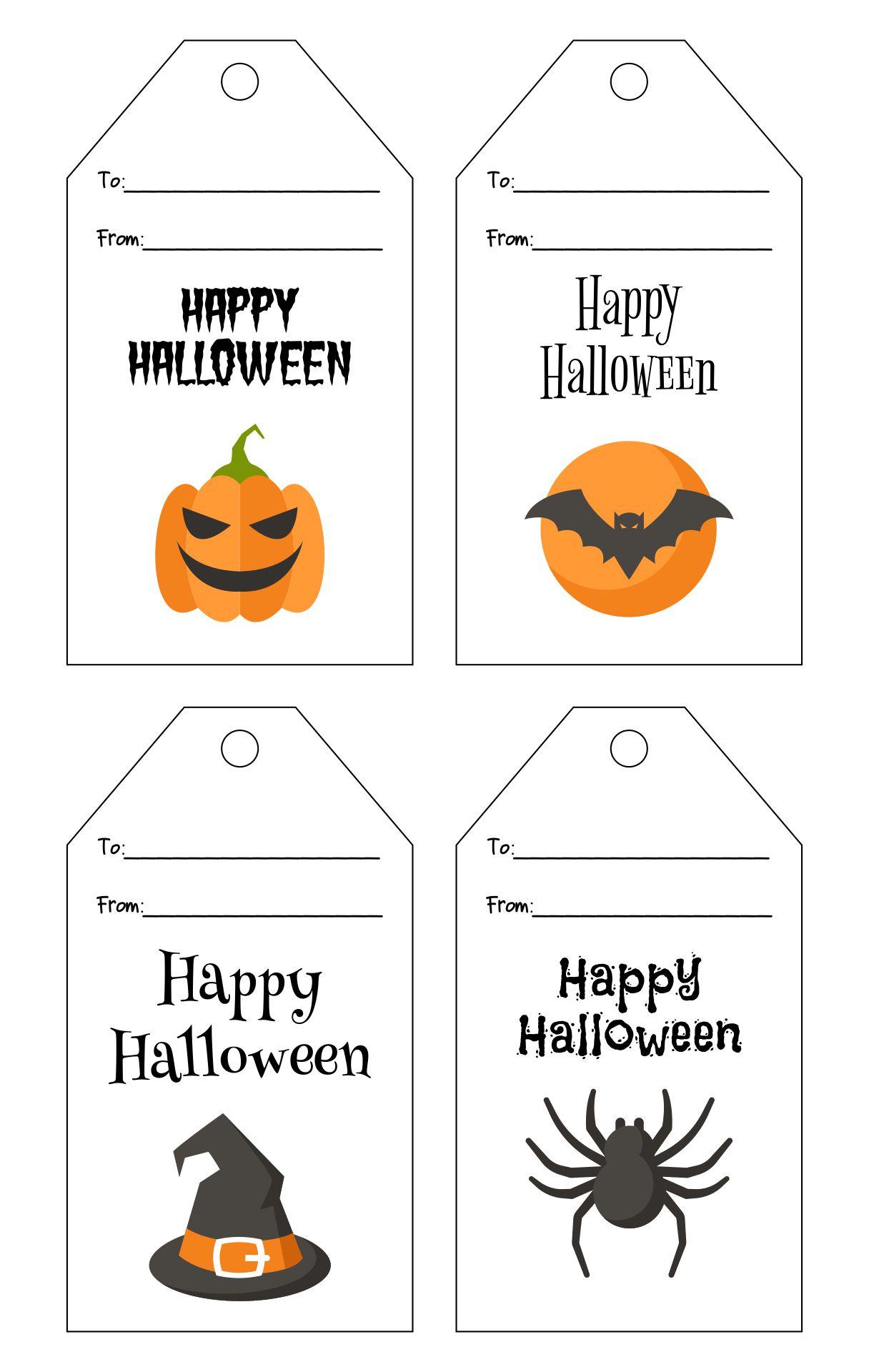 Happy Halloween Tags Printable
