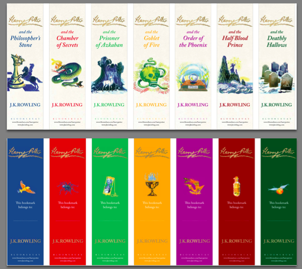 Harry Potter Bookmarks Free Printables