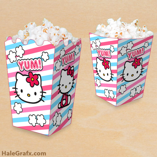 4 Images of Free Printable Hello Kitty Box
