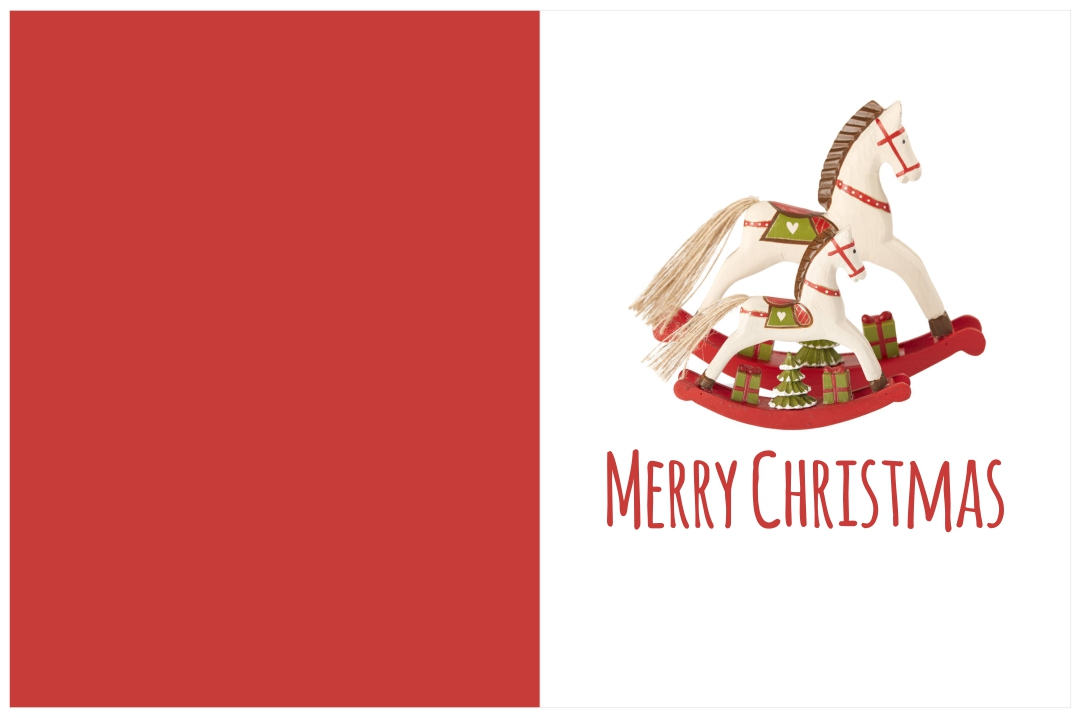 Horse Christmas Cards Printable